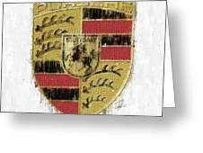 Porsche Logo Greeting Card