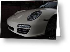 Porsche On Canyon Road Greeting Card