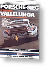 Porsche Vallelunga Vintage Racing Poster Greeting Card