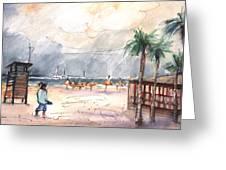 Port Alcudia Beach 01 Greeting Card