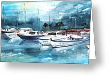 Port Alcudia Harbour 01 Greeting Card