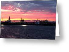 Port Angeles Harbor Thirteen Greeting Card