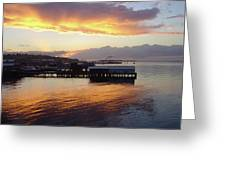 Port Angeles Sunset Greeting Card