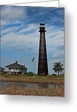 Port Bolivar Lighthouse Greeting Card