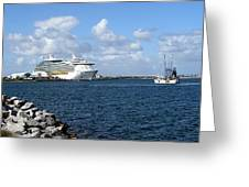 Port Canaveral In Floirda Greeting Card