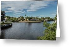 Port Charlotte Adhenry Waterway From Midway Greeting Card