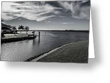 Port Charlotte Bay Harbor Waterway From Ohara Greeting Card