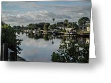 Port Charlotte Elkham Waterway From Tamiami Greeting Card