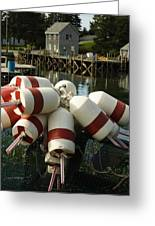 Port Clyde Maine Bouys Greeting Card