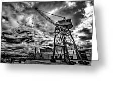 Port Crane Greeting Card