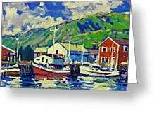 Port De Peche' Greeting Card