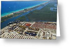 Port Everglades Florida Greeting Card