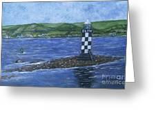 Port Glasgow, Perch Lighthouse Greeting Card