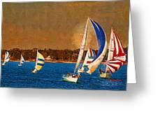 Port Huron Sailboat Race Greeting Card
