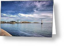 Port Melbourne Harbour Greeting Card