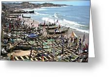 Port Of Cape Coast Ghana Greeting Card