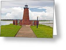 Port Of Kissimmee Lighthouse In Central Florida Greeting Card