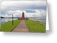 Port Of Kissimmee Lighthouse On Lake Tohopekaliga In Central Florida Greeting Card