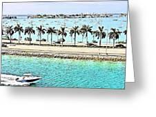 Port Of Miami - Miami, Florida Greeting Card