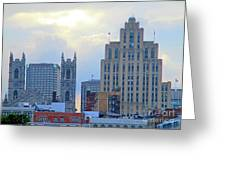 Port Of Montreal Skyline Greeting Card