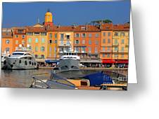 Port Of Saint-tropez In France Greeting Card by Giancarlo Liguori
