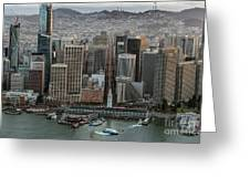 Port Of San Francisco And Downtown Financial District Greeting Card