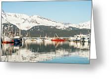 Port Of Seward Alaska  Greeting Card