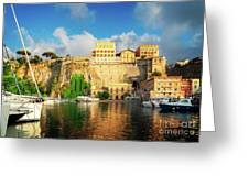 Port Of Sorrento, Southern Italy Greeting Card