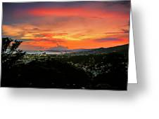 Port Of Spain Sunset Greeting Card