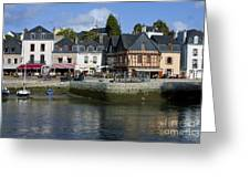 Port Of St Goustan In Brittany  France Greeting Card