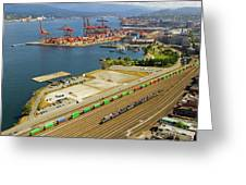 Port Of Vancouver Bc Greeting Card