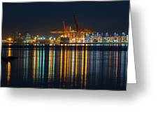 Port Of Vancouver In British Columbia Canada Greeting Card