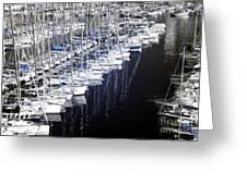 Port Parking Greeting Card
