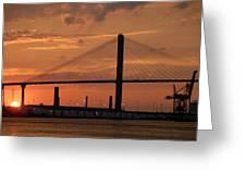 Port Savannah Sunset Greeting Card