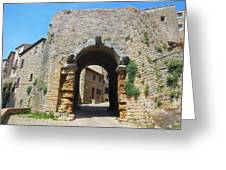 Porta All' Arco Volterra Greeting Card
