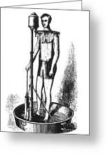 Portable Shower Bath 1880 Greeting Card
