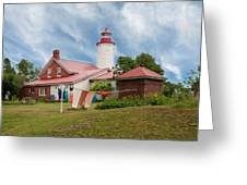 Portage River - Jacobsville - Lighthouse Greeting Card