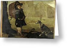 Portarolo Col Cane Greeting Card