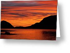 Porteau Cove Glow Greeting Card