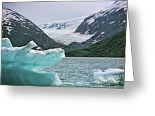 Porter Glacier Alaska  Greeting Card