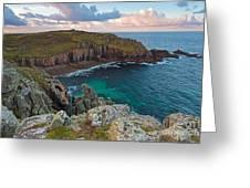Porth Loe Cornwall At Sunrise Greeting Card