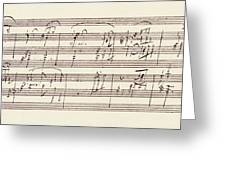 Portion Of The Manuscript Of Beethoven's Sonata In A, Opus 101 Greeting Card