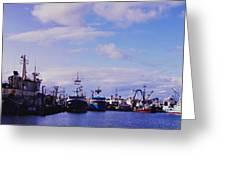 Portland Harbor Panaramic Greeting Card