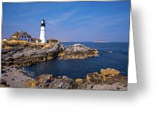 Portland Head Infrared Light Greeting Card by Brian Hale