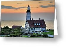 Portland Head Lighthouse At Daybreak 2 Greeting Card