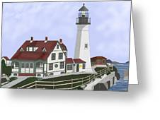 Portland Head Maine On Cape Elizabeth Greeting Card