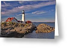 Portland Lighthouse Greeting Card