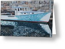Portland Lobster Boat Greeting Card