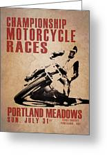 Portland Meadows Greeting Card