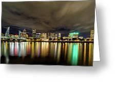 Portland Nightscape Greeting Card